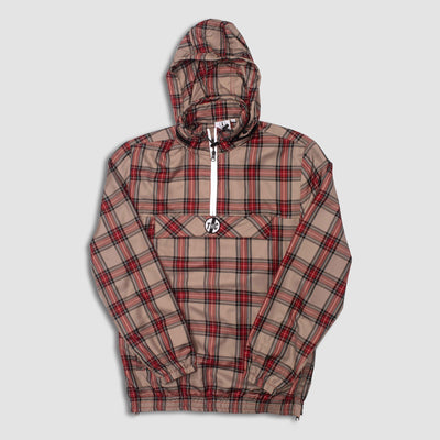 Bentley Plaid ½ Zip Jacket