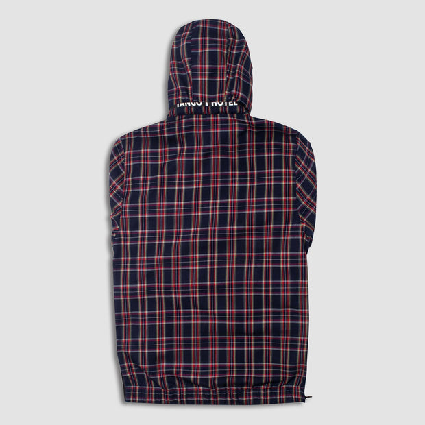 Rari Plaid ½ Zip Jacket Back View