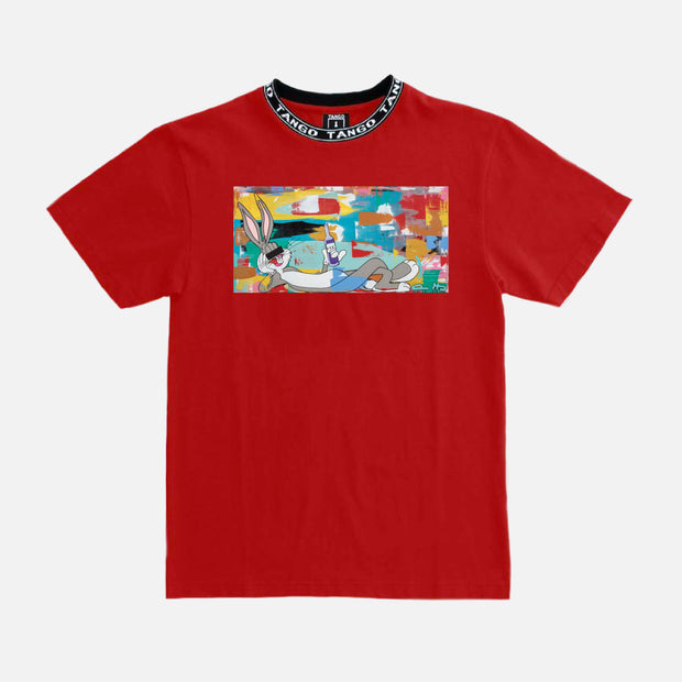 Wearable Art Tango Hotel XXX Drink Bunny Red T-Shirt