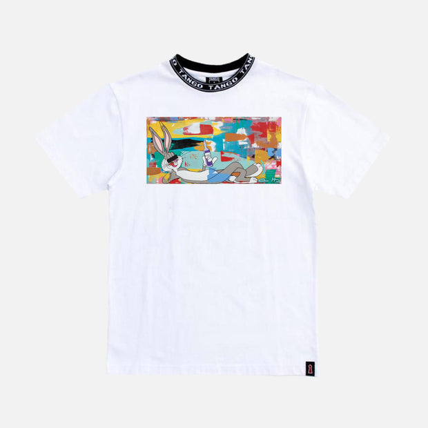Wearable Art Tango Hotel XXX Drink Bunny White T-Shirt