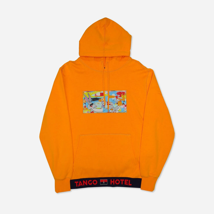 Wearable Art Tango Hotel XXX Drink Bunny Orange Hoodie