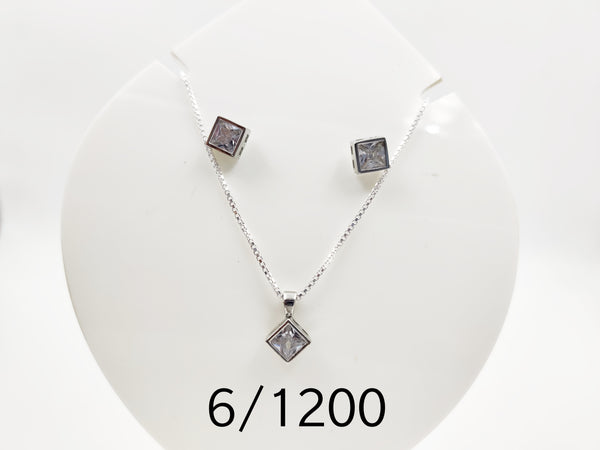 Solitire pendant set
