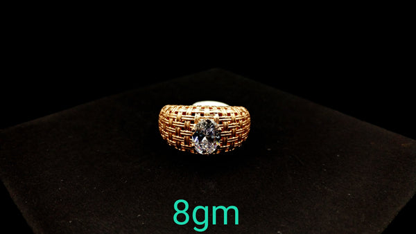 Lady Ring Rose Gold Samy Italian Solitier