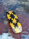 PUZZLED YELLOW/BLACK BOXY SHAPE SPLITPLY DECK