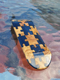 PUZZLED BLUE/EXOTIC POPSICLE SHAPE SPLITPLY DECK