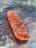 PUZZLED RED/BURL BOXY SHAPE SPLITPLY DECK