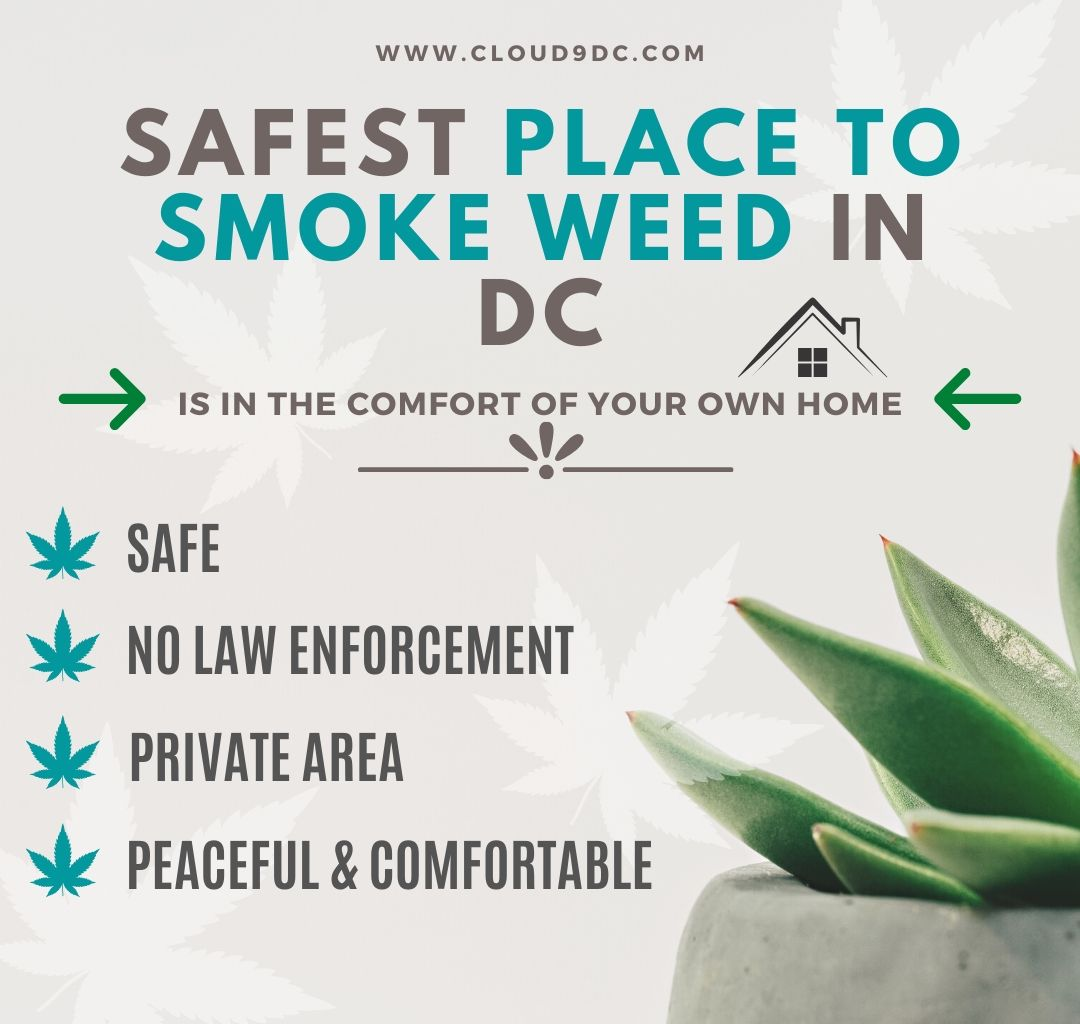 safest place to smoke weed in dc