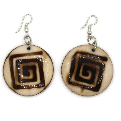 Mud cloth style earrings