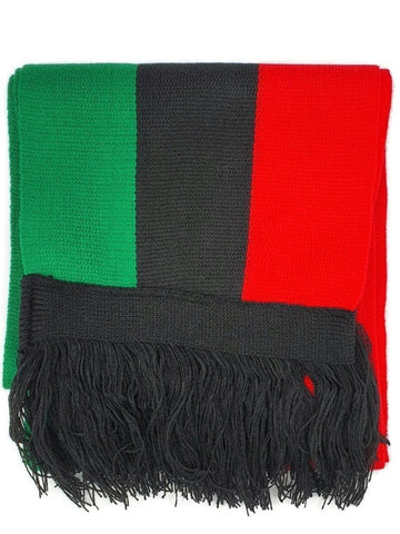 RED Black Green Scarf -RBG 6.5ft