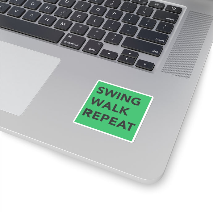 Swing Walk Repeat Square Sticker