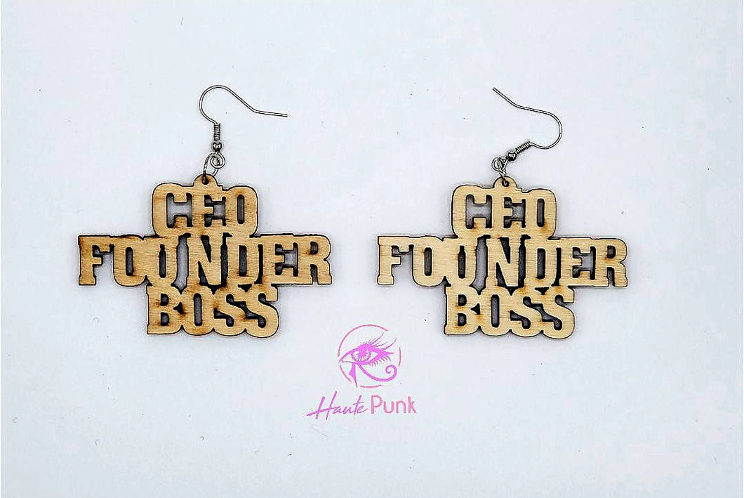 CEO FOUNDER BOSS Earrings