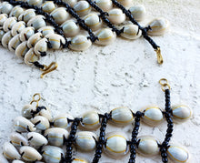 Load image into Gallery viewer, Cowrie Shell Beaded Necklace Wide Collar Shape