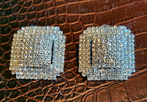 Bling Square Earrings