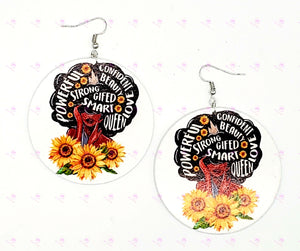 Sunflower Affirmations Earrings