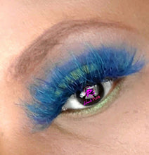 Load image into Gallery viewer, AMENZE- Blue/Green Colored Real Mink Strip Lashes