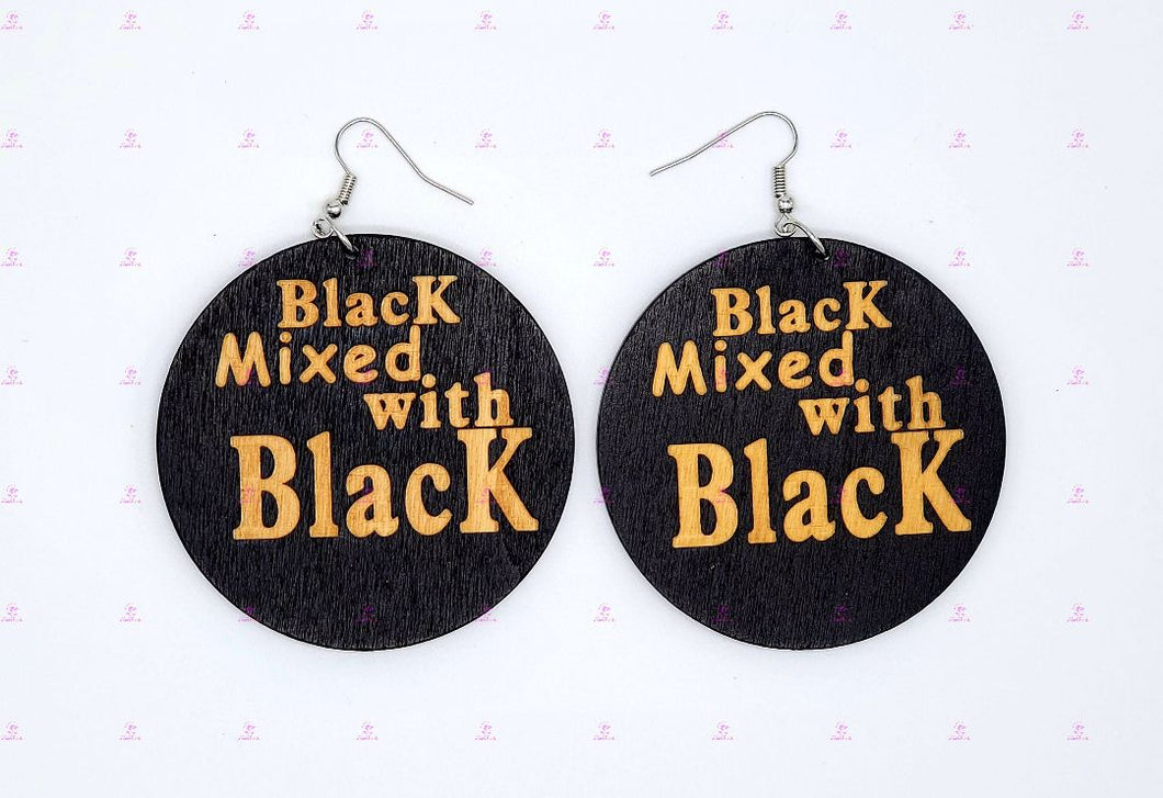 BLACK MIXED WITH BLACK Earrings