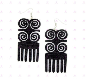 DWENNIMMEN with DUAFE  Adinkra Symbol Earrings