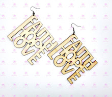 Load image into Gallery viewer, FAITH HOPE LOVE Earrings