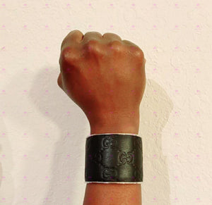 Gucci Up-cycled Cuff Bracelet 1 inch and 2 inch- Guccissima Leather