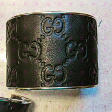 Load image into Gallery viewer, Gucci Up-cycled Cuff Bracelet 1 inch and 2 inch- Guccissima Leather