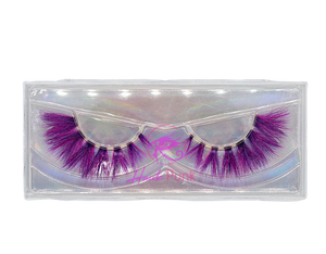MAIEKA- Fuschia/Purple Colored Real Mink Strip Lashes