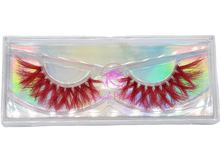 Load image into Gallery viewer, SCARLET- Red Colored Real Mink Strip Lashes