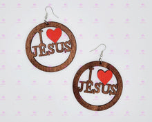 Load image into Gallery viewer, I LOVE JESUS Earrings