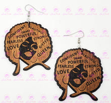 Load image into Gallery viewer, AFFIRMATIONS AFRO Earrings