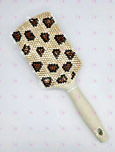 Load image into Gallery viewer, Handmade Bling Crystal Animal Print Paddle Brush
