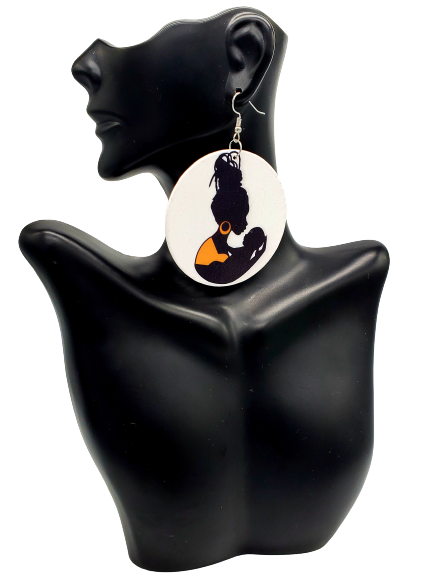 Black Mother Earrings