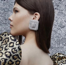 Load image into Gallery viewer, Bling Square Earrings