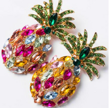 Load image into Gallery viewer, BLING PINEAPPLE Earrings
