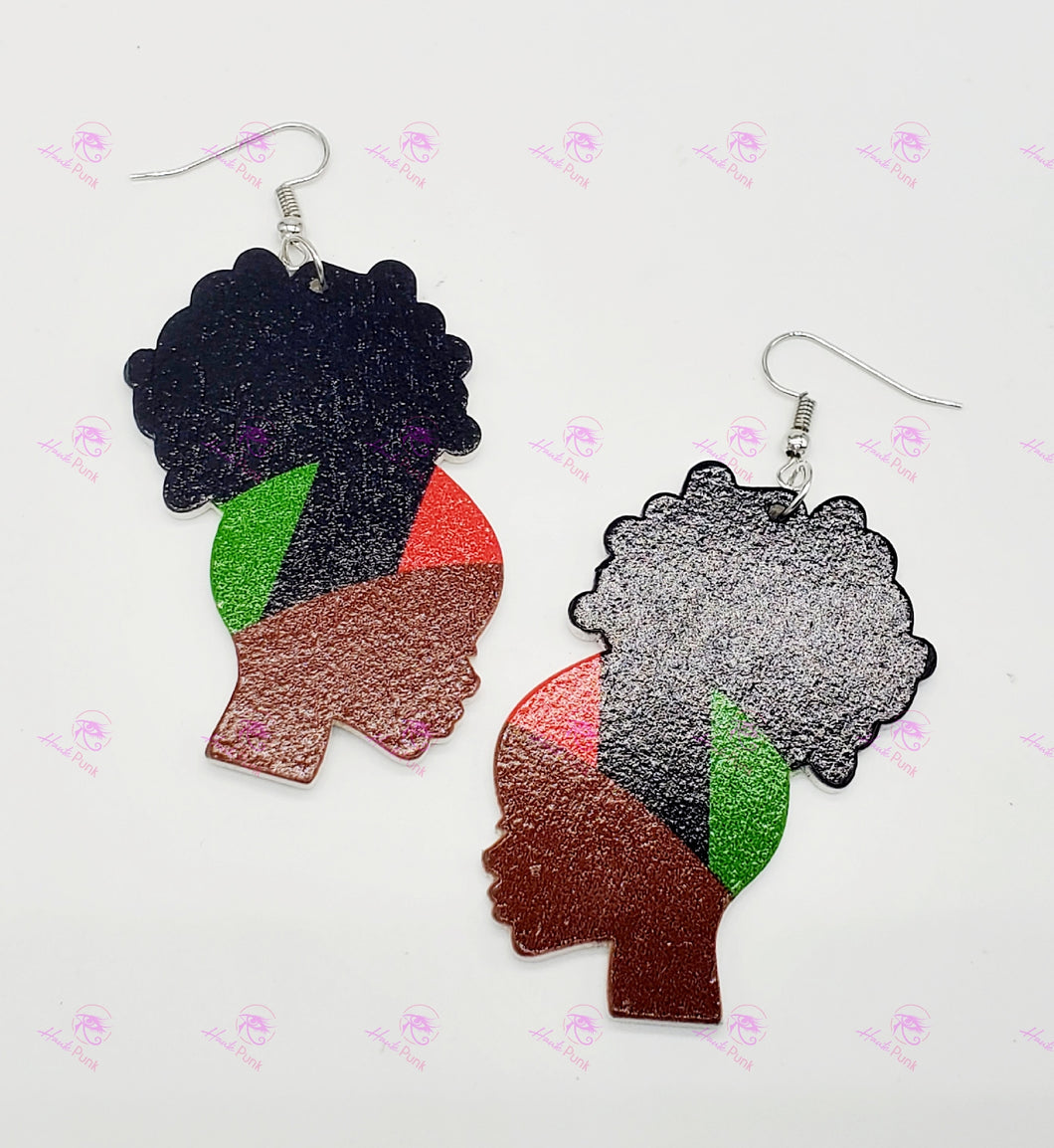 Pan-African Flag Bandana Lady Earrings