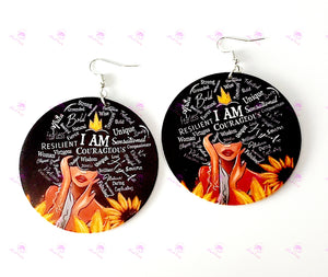 Sunflower Affirmations 2 Earrings