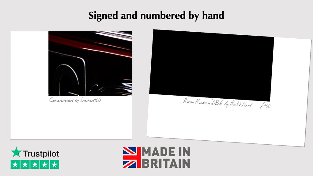 signed and numbered limited edition aston martin prints that are made in britain