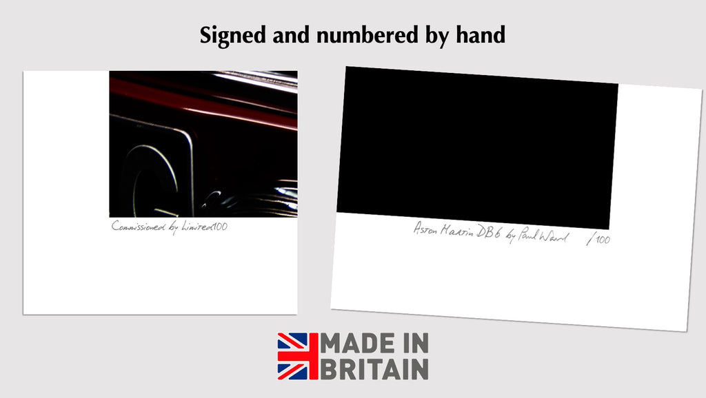 hand signed and numbered limited edition car wall art