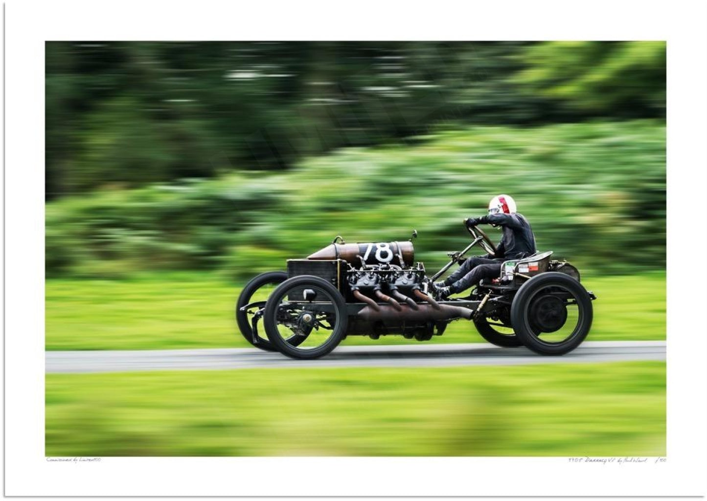 1905 Darracq 200hp V8 at Loton Park Hill Climb