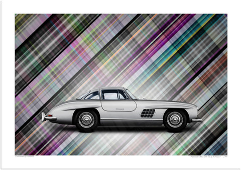 Mercedes-Benz 300 SL (technicolour tartan)