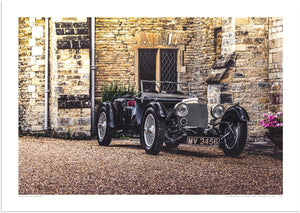 Aston Martin Short Chassis Le Mans 1933 at Turvey Abbey (Departure)