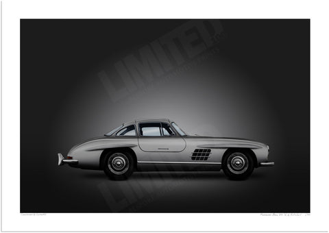 Mercedes-Benz 300 SL (silver on black)