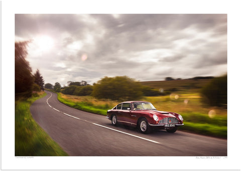 Aston Martin DB6 in the Mendips