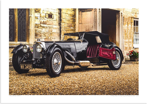 Aston Martin Short Chassis Le Mans 1933 at Turvey Abbey (Arrival)