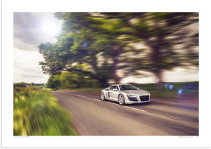 Audi R8 in the Clent Hills
