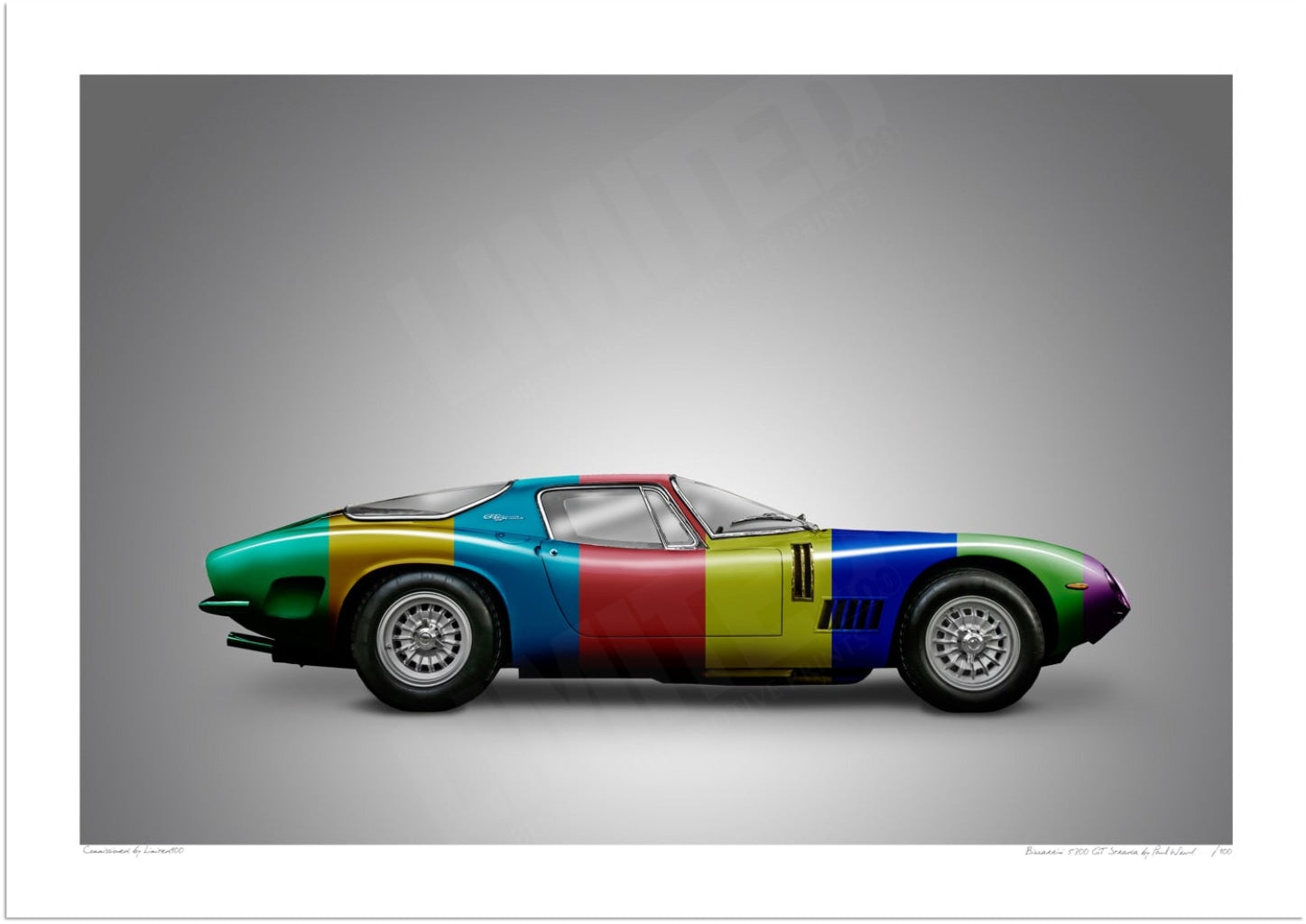 Bizzarrini 5300 GT Strada (stripes)