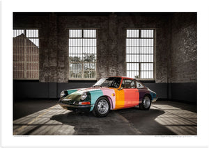 1965 Porsche 911 Paul Smith 'art car' at Bicester Heritage