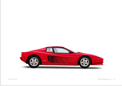 Ferrari Testarossa (red, white)