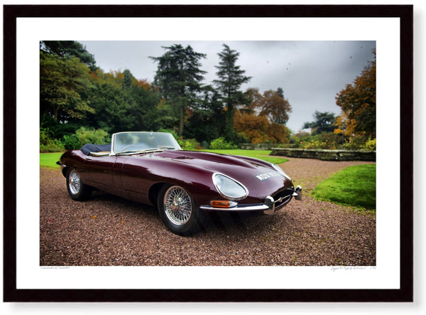 Jaguar E-Type in the Cotswolds