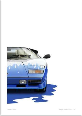 Lamborghini Countach (white, blue)