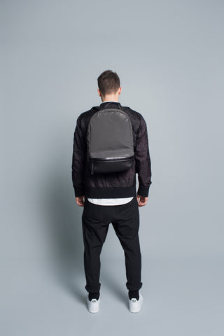 Barred Backpack // Black