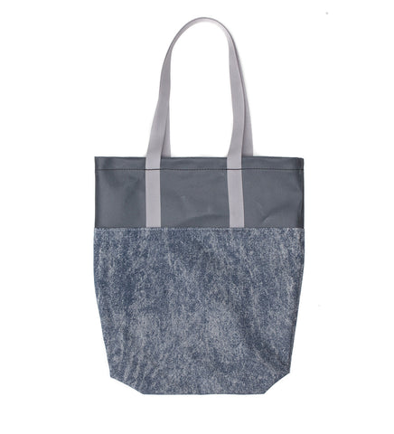 Feather Tote | Acid Washed Denim